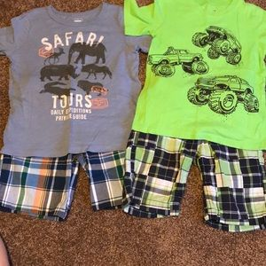 Other - Bundle of 2 boys short sets. Size small (6-7)